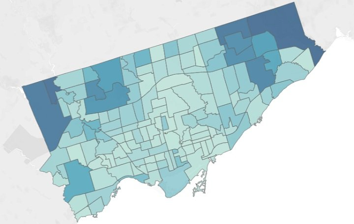 New Toronto Neighbourhood Map Details Number Of Coronavirus Cases Sound Health And Lasting Wealth