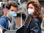 Andrew Garfield and Vanessa Hudgens keep masks and face shields at on set of Tick, Tick…Boom!