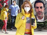 Isla Fisher steps out in LA with bodyguard after Borat 2 release